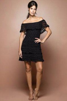Black Martini Crochet Dress - Vanessa Montoro USA Más