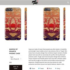 "One of our #featuredproducts this week ""Queen of Hearts "" #phonecase #rootcompass"