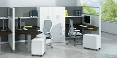 Stride by Allsteel Office Furniture, Office Desk, Office Spaces, Furniture Ideas, Cubicle, Corner Desk, Things To Sell, Cabinet, Storage