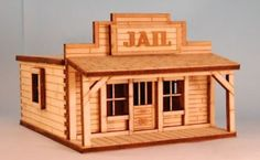 Jailhouse made of popsicle sticks