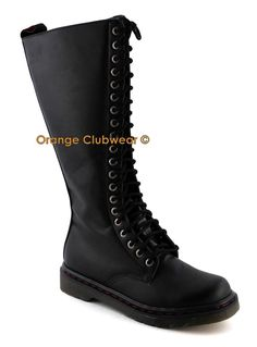Demonia Disorder 400 Womens Black Gothic Punk Knee High Combat Boots Goth Shoes | eBay