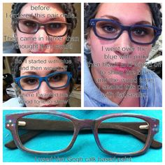 you can pretty much restyle anything with van Gogh chalk paint.  This gal painted her glasses. She said it worked well. The pain adhered to the acrylic awesomely and they are holding up really well no chipping or scratching. She hated the glasses but now they are her favourite pair!