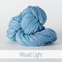 The Fibre Company: Terra in 'Woad Light' #yarn #yarnporn #colourinspiration