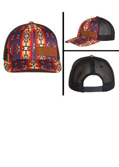 Rock  amp  Roll Denim Juniors Aztec Print Snapback Trucker Ball Cap CGC4703  Knitted Hats 6f4025b2004b