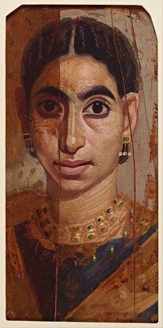 Romano-Egyptian fayum portrait of a woman. Egypt Mummy, Post Mortem, Egyptian Mummies, Google Art Project, Roman Art, Ancient Egyptian Art, Encaustic Art, Art Moderne, Ancient Artifacts