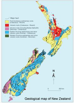 New Zealand geology map. Thinking about everyone in the aftermath of the earthquake and aftershocks