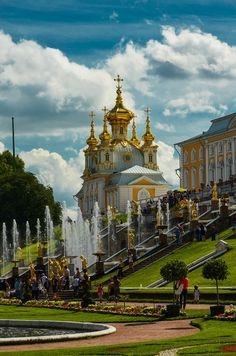 The Peterhof Palace in Russia.