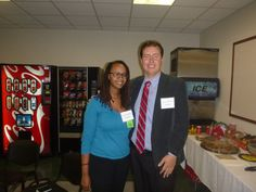 #Lawyer Evan Guthrie with Tammy Adams, law clerk at Evan Guthrie Law Firm at the South Carolina Bar Middle School Mock Trial Competition Lowcountry Regional at North Charleston City Hall in North Charleston, SC on Saturday November 15, 2014