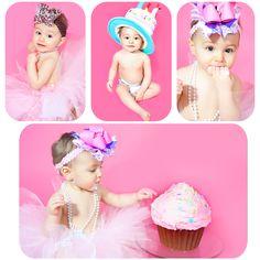 1st Birthday Shots #photography, #rileyjoliephotography, #smashcake Bows from www.ifthebowfits.com @Pam