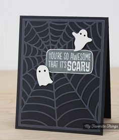 Spooky Sentiments, Spider Web Cover-Up Die-namics, Spooky Scene Die-namics - Kimberly Crawford #mftstamps