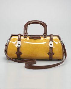 Two-Tone Spazzolato Leather Dr. Bag by Miu Miu at Bergdorf Goodman. $1990