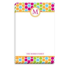 Bright Mosaic Flowers Initial Notepads