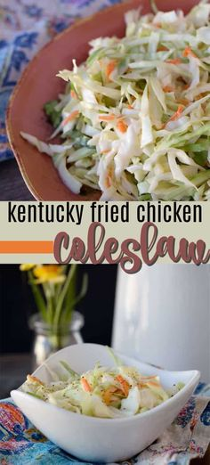 KFC Coleslaw recipe - just like the Colonel! This copycat KFC coleslaw recipe is delicious! You won't be able to tell the difference. This coleslaw recipe is the perfect gathering or potluck dish! Potluck Recipes, Barbecue Recipes, Salad Recipes, Dinner Recipes, Cooking Recipes, Holiday Recipes, Dinner Ideas, Picnic Ideas, Side Dishes Easy