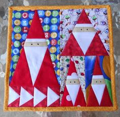 Cute little gnomes. Free paper piecing. Val Spiers Sews: Christmas