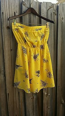 Strapless Yellow Dress, Mimi Chica Brand, Size Small, FREE SHIPPING!