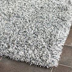 silver shag rug | Handmade Malibu Silver Shag Rug (5' x 8') | Overstock.com