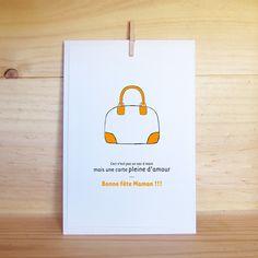 Carte pour la fête des mères - Création Clemencedemalglaive #Carte #Fetedesmeres / #Postcard #Mothersday