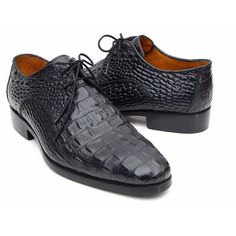 Paul Parkman Black Crocodile Embossed Calfskin Derby Shoes (ID#1438BLK)  #fashion #swag #style #stylish #socialenvy #PleaseForgiveMe #me #swagger #photooftheday #jacket #hair #pants #shirt #handsome #cool #polo #swagg #guy #boy #boys #man #model #tshirt #shoes #sneakers #styles #jeans #fresh #dope