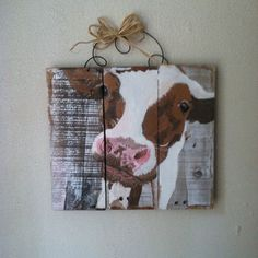 Cow Pallet Sign