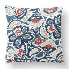 "18"" Custom Outdoor Fruition Cushion  Fruition Item# CC-OD0006 100% Polyester Cover 100% Polyester Fill Blue Custom Outdoor Cushions, Fill, Tapestry, Shapes, Throw Pillows, Texture, Quilts, Blanket, Cover"
