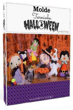 Quem gosta e comemora o dia das bruxas, tenho certeza que vai gostar desta apostila com bonecos/monstrinhos de feltro para dia do Halloween. A apostila fei