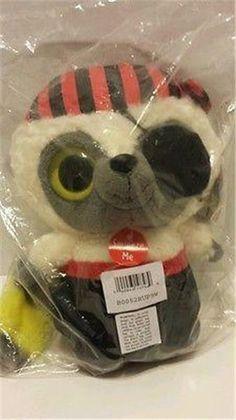 "Plush Raccoon Pirate Mates YooHoo wildlife animals Stuffed Animal 9"" Sounds New #YooHoo"