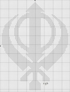 Stitch the free Khanda Symbol Cross Stitch pattern with the floss color of your choice. Crochet Hot Pads, Ancient Symbols, Business Management, Filet Crochet, Cross Stitch Patterns, Embroidery Designs, Free Pattern, Crafty, Knitting