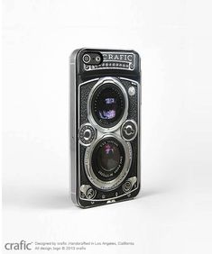 Vintage Camera Silver Lens iPhone 5 Case, Retro iPhone 4 Case, iPhone 4S Case