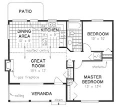 House Plan No.130444 House Plans by WestHomePlanners.com