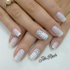 32 New Acrylic Nail Designs Ideas to Try This Year - Page 31 of 32 White and gold shiny nails white and glitter are the perfect complement. Don't just trust us, look at it yourself. These silver-white shiny nails are Nail Polish Designs, Acrylic Nail Designs, Nail Art Designs, Acrylic Nails, Solid Color Nails, Nail Colors, Pastel Colors, Bridal Nails, Wedding Nails