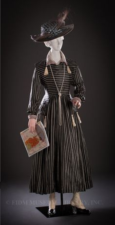 Fripperies and Fobs Harvey Nichols day dress, 1916 From the Helen Larson Historic Fashion Collection at the FIDM Museum