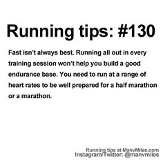 100+ Running Tips: No. 130:Vary your intensity.              Starting running or training for a marathon? Tips and help: Get more running tips and training adivce