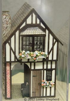 Exterior of a 1:48 scale Tudor gatehouse by Rosemary Shipman