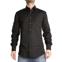 €78 Gucci Black Popeline Long Sleeves Shirt