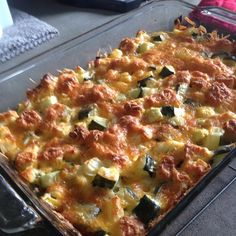 """Cheesy Zucchini Casserole II """"We love this recipe! A great way to use up those summer veggies! I added cubed chicken breast...and it was even tastier!"""""""