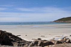 La plage de Kerhornou, un après midi d'hiver ensoleillé.