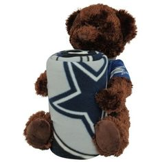 Northwest Dallas Cowboys 40'' x 50'' Fleece Blanket with Bear