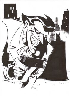 Bruce Timm, ein Meister des geschwungenen Stils, schade dass der Mann eigentlich nur wenige Comics gezeichnet hat.