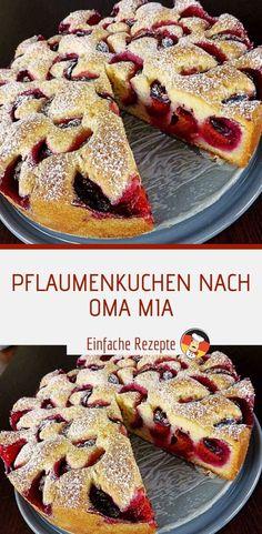 Zutaten 2 kg Pflaume(n), ca. 500 g Zucker 250 g Butter, oder Margarine 4 gro. Muffin Recipes, Apple Recipes, Sweet Recipes, Baking Recipes, Cookie Recipes, Dessert Recipes, Kenwood Cooking, German Baking, Scones Ingredients