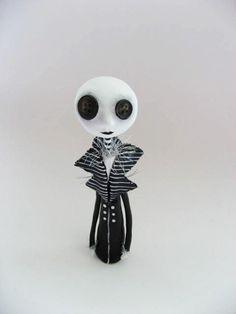 Goth Art Doll Halloween Doll  Button Eyed by MyriamPowellDesigns, $50.00
