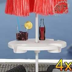 4Piece XL Over Parasol Umbrella Table Drinks Holder for Parasol Pole Pole Diameter 12mm–42mm–Complete With Durable Parasol Cover, Parasol Base for Beach Sand, Ground Anchors Ground Socket Holder Shield Anchors, Umbrella Stand, Accessories for Sun Umbrellas