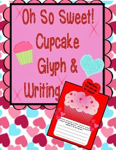 This Cupcake Glyph and writing craft has the students color an adorable cupcake according to a Glyph legend and then create a cute cupcake craft with it that includes the choice of two simple open ended writing prompts.  #freeprintables #TeacherSherpa