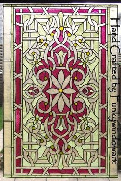 art deco window clings window art stained glass effects ...