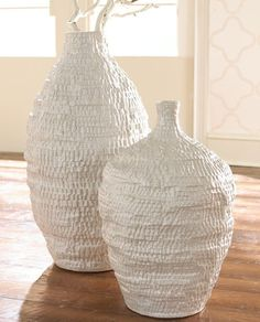 white mozaig jar & jug vase design