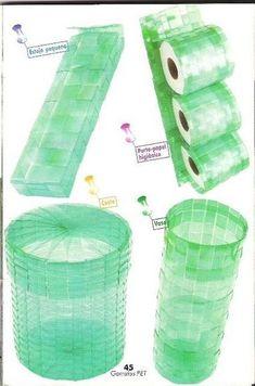 How to Make Pet Bottle Basket - Craft Videos Reuse Plastic Bottles, Plastic Bottle Crafts, Recycled Bottles, Upcycled Crafts, Recycled Art, Diy And Crafts, Crafts For Kids, Basket Crafts, Diy Recycle