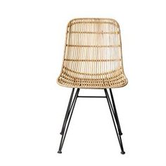 Add intricate design to your home with the Darling Rattan chair from Bloomingville. Woven from rattan, this chair has a light and airy design with a fluid, curved shape for comfortable and stylish sea Rattan Outdoor Furniture, Rattan Dining Chairs, Outside Furniture, Outdoor Chairs, Furniture Chairs, Outdoor Lounge, Balcony Furniture, Metal Furniture, Room Chairs