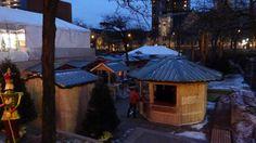 the first booths are ready mybrilliantstar herrnhutstar moravianstar christmas decoration holiday marketminneapolischristmas