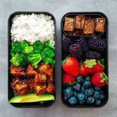 "1,693 Likes, 47 Comments - Tanairí | Peas & Love Jewelry (@peaslovevegan) on Instagram: ""My bento box for lunch today! On the left I have brown rice, grape tomatoes, and soyaki tofu,…"""