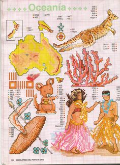Particularly love the comic kanga and joey. Gallery.ru / Photo # 84 - ENCICLOPEDIA ITALIANA 3 - KIM-2 Cross Stitch Love, Counted Cross Stitch Patterns, Cross Stitch Charts, Cross Stitch Designs, Cross Stitch Embroidery, Blackwork Patterns, Hobbies For Kids, Cross Stitch Collection, Plastic Canvas Patterns