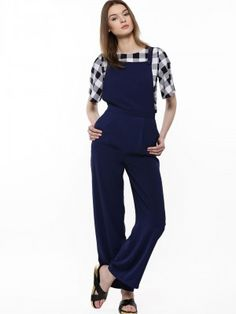6f83eafd8d6 Buy Girls On Film Navy Dungaree Jumpsuit for Girls Online in India